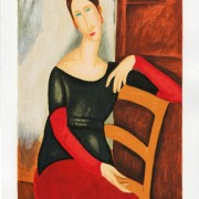 Jeanne Hebuterne with a chair